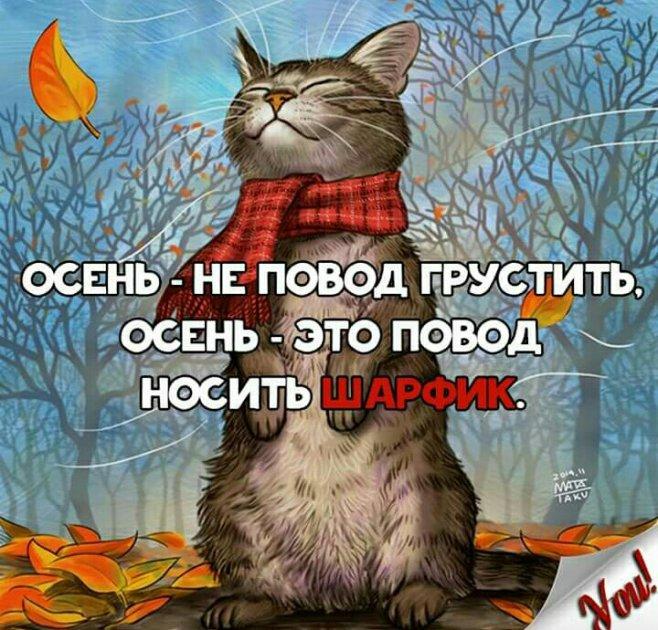 Картинки не грустить осенью