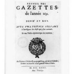 Первый номер официальной французской газеты «La Gazette»